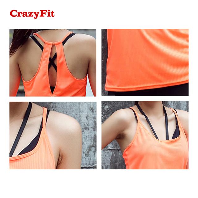 Orange Sleeveless Sports Fitness Tank Top