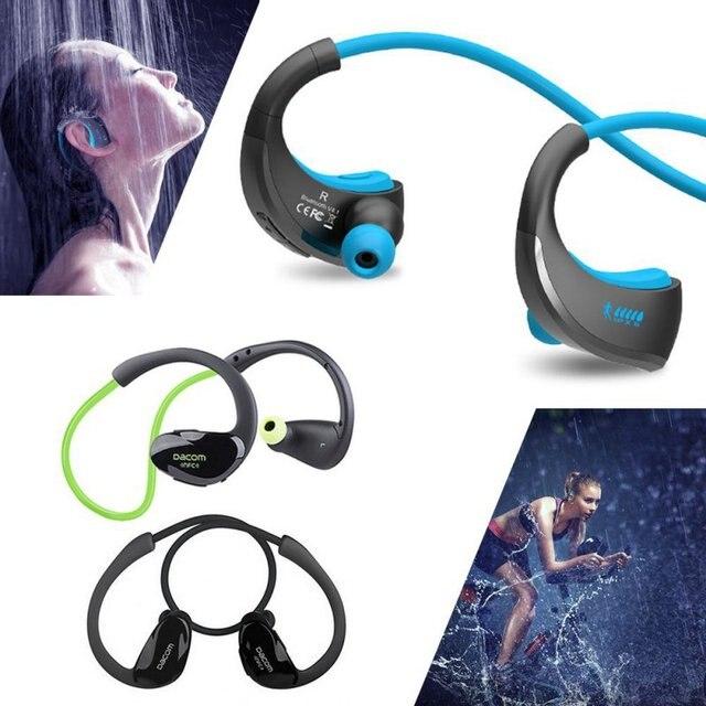 Даком Спортсмен Bluetooth Гарнитура Беспроводная Спорта Headsfree Наушники Стерео Музыка Наушники с Микрофоном и NFC