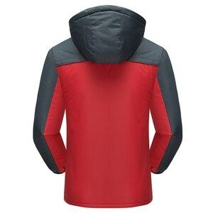 Image 3 - Kurtka mężczyźni zimowe grube polarowe wodoodporne znosić kurtki wojskowe Plus rozmiar 5XL męska wiatrówka armia Parka płaszcz przeciwdeszczowy
