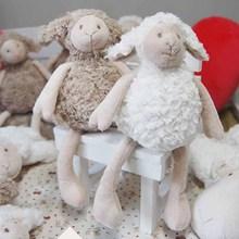 Cute Sheep Plush Toys Soft Stuffed Cartoon Animal Couple of Lamb Stuffed Dolls Baby Accompany Sofa Toys for children Christmas