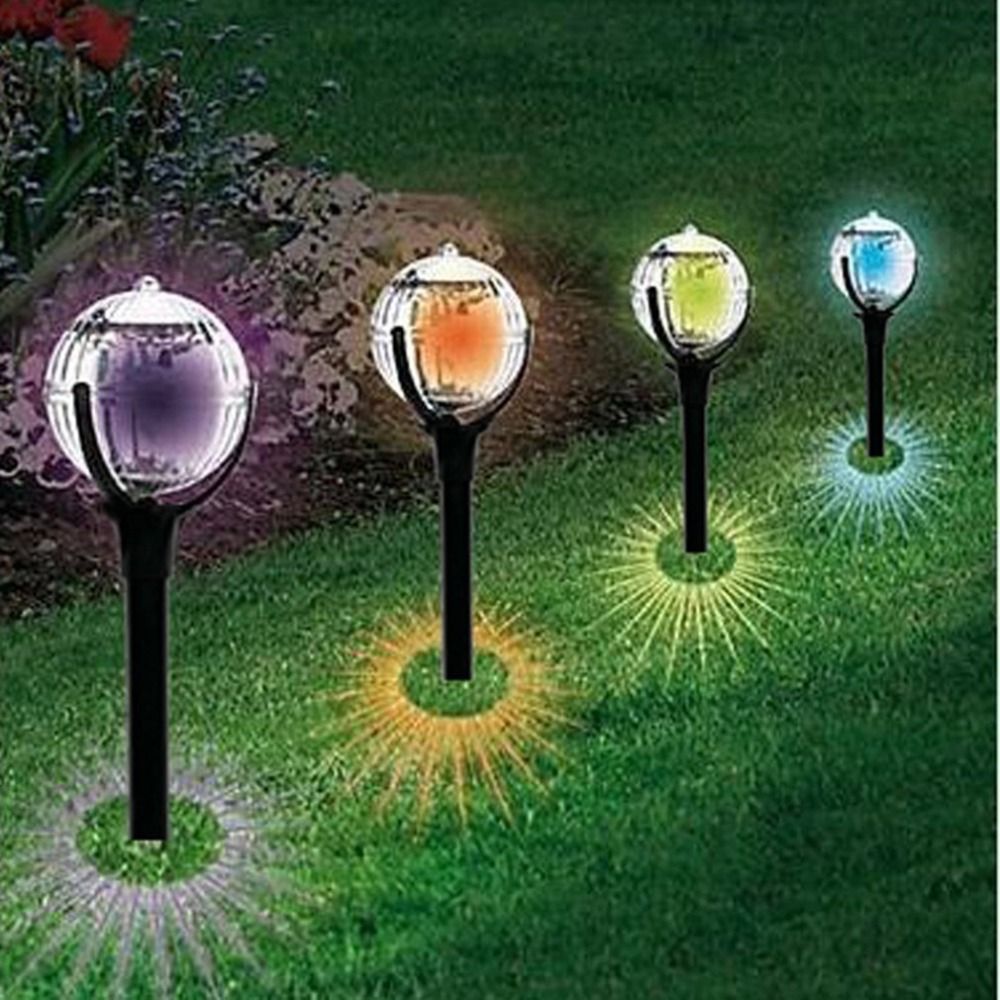 Waterproof Led Ball Solar Light Colorful Lawn Lamp Outdoor