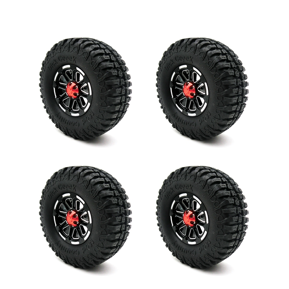 4PCS RC Crawler Truck 1.9 Inch Rubber Tires & Metal Beadlock Wheel Rim Kit for 1/10 Axial SCX10 Tamiya CC01 RC4WD D90 D110 набор кашемир 19 5 см easy life s p a набор кашемир 19 5 см