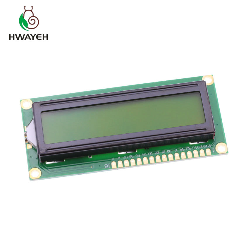 1PCS LCD1602A 1602 <font><b>module</b></font> green screen <font><b>16x2</b></font> Character <font><b>LCD</b></font> <font><b>Display</b></font> <font><b>Module</b></font>.1602 5V green screen and white code for arduino image
