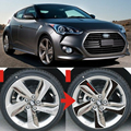 Hot sale Carbon Fiber Wheel Hub Decals Stickers for 2011 2012 2013 Veloster 4pcs