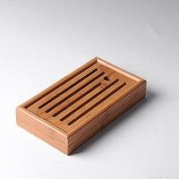 Slatted Box Tea Serving Bamboo Tray Mini Size Kung Fu Tea Portable Small Bamboo Tea Tray