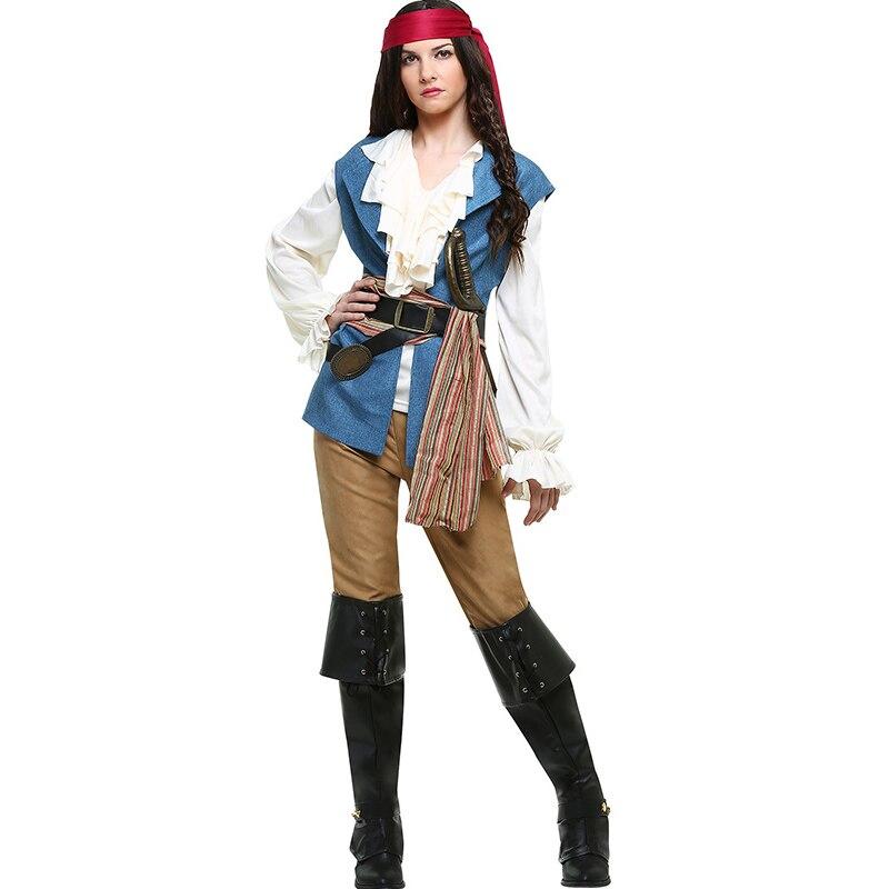 9498bdcfeb1 Mujeres Sexy traje de pirata Plus tamaño Halloween Anime vestido de fiesta  carnaval adulto pirata, Jack Sparrow Cosplay disfraces