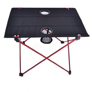Image 4 - Vilead 超軽量アルミピクニックキャンプテーブル 56*42*40 センチメートルポータブル折りたたみ waterfproof 屋外ビーチテーブルボトル hoder