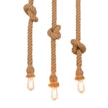 Ретро винтажная веревочная лампа Лофт DIY веревочная люстра промышленная лампа американский стиль для Дин гостиной ресторана
