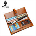 2016 New High Quality 100% Genuine Leather Brand Women Wallet Cotton Long Zipper Purse With Card Holders Phone Cases Bags Women