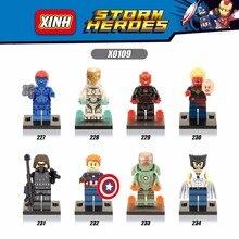 80PCS XINHX0109  Marvel Super Heroes Captain America Civil War IronMan Wolverine bricks Minifigures Building Block Toys