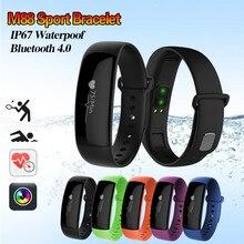 Оригинальный M88 Смарт Браслет Все совместимые OLED Touchpad сна Мониторы сердечного ритма Фитнес трекер Смарт-часы