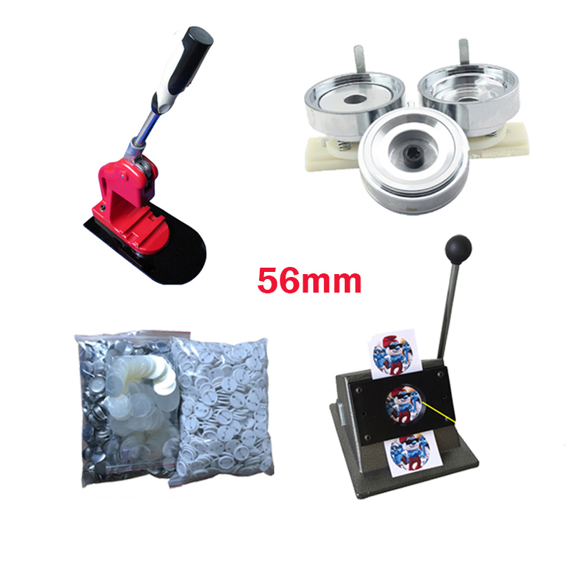 Hot Selling one plastic badge press machine, Metal medal mould, Round cutting machine with 1000pcs plastic badges(56MM) in 2017 new mould 58 mm circular mould exchange badges badges 58 mm machine mold factory outlet