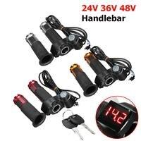 Throttle Grip LED Details About For EBike Electric Scooter 24V 36V 48V Handlebar Digital Meter 2