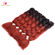 Golden Beauty 5 packs/lot 24inch Synthetic Crochet Braiding Hair Jumbo braid Hair Extensions
