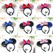 disney Микки Минни уши дети украшение для волос с героями мультфильмов аксессуары для рук милые плюшевые игрушки подарок на день рождения для девочек мода