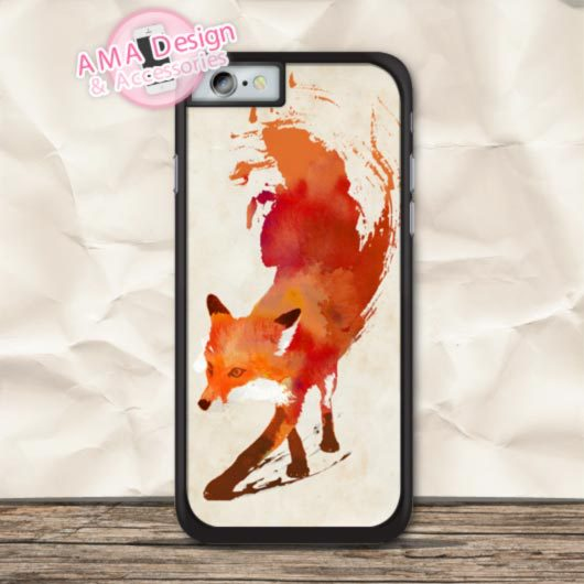 Flaming Fox Lovely Cover Phone Case For iPhone X 8 7 6 6s Plus 5 5s SE 5c 4 4s For iPod Touch