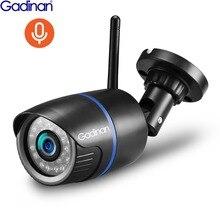 Gadinan 720 p 1080 p gravação de áudio câmera ip ao ar livre rua wi fi monitor segurança apoio tf cartão app yoosee para smartphone
