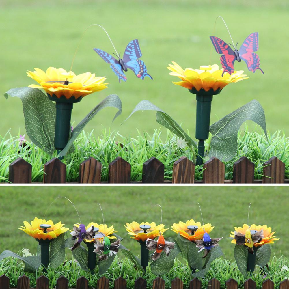 Details about  /Solar Hummingbird Butterfly Bird Sunflower Yard Garden x Ornament Decor Q2V4