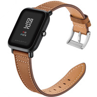 Luxury Genuine Leather Strap For Xiaomi Huami Amazfit Smart Watch Strap 20mm Bracelet Replacement Wrist Bands