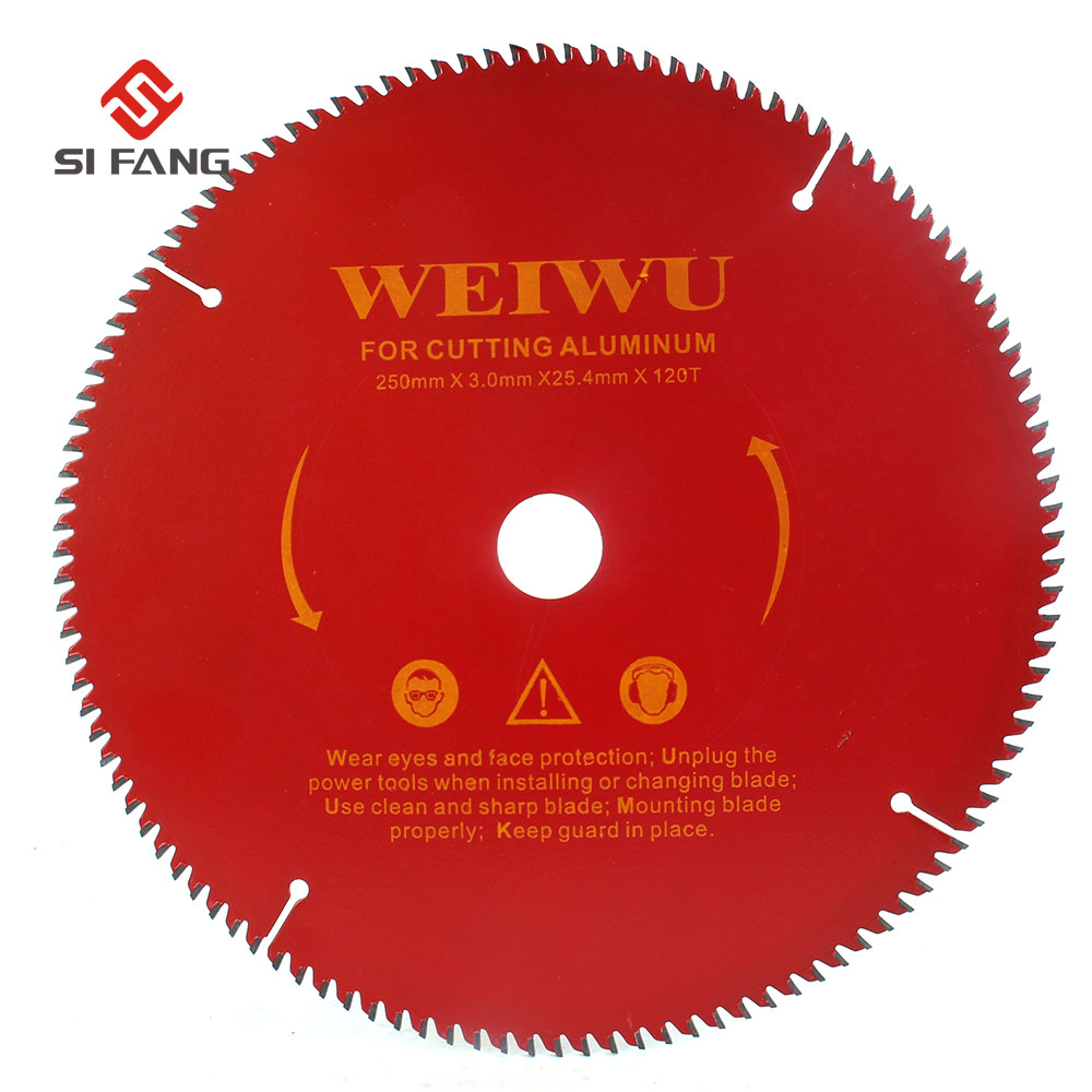 10inch 250mm Carbide Circular Saw Blade For Wood Aluminium Alloy Cutting 40T 60T 80T 100T 120T  Cutter Tool  Aluminium Alloy Saw Blade