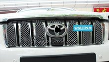 8PCS Stainless Steel Grill Grille Trim Cover For Toyota Land Cruiser Prado FJ150 2010 2011 2012 2013