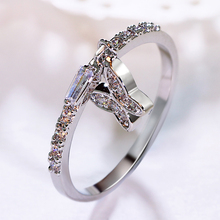 Lovely butterfly pendant small ring Ssetting AAA small Cubic zirconia crystal stones White Elegant Trendy ring China wholesale