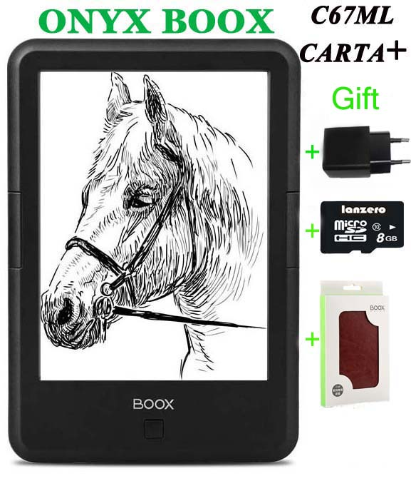 New original ONYX BOOX C67ML carta+ ebook reader 6 8gb wifi  eink touch screen 3000mAh pocket books gift pu cover free shipping original 6 inch touch screen lcd display for onyx boox c63l onyx boox c63ml magellan e book free shipping