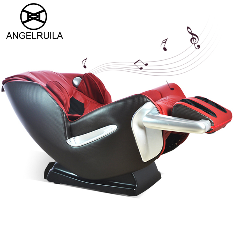 Angelruila Shiatsu Electric Massage Chair full body compresses vibration kneading massager for back with music heating therapy electric antistress therapy rollers shiatsu kneading foot legs arms massager vibrator foot massage machine foot care device hot