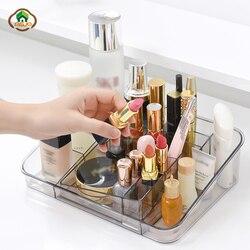 Msjo caixa de maquiagem organizador plástico cosméticos para organizador jóias unha polonês batom caixa de armazenamento casa desktop organizador de maquiagem