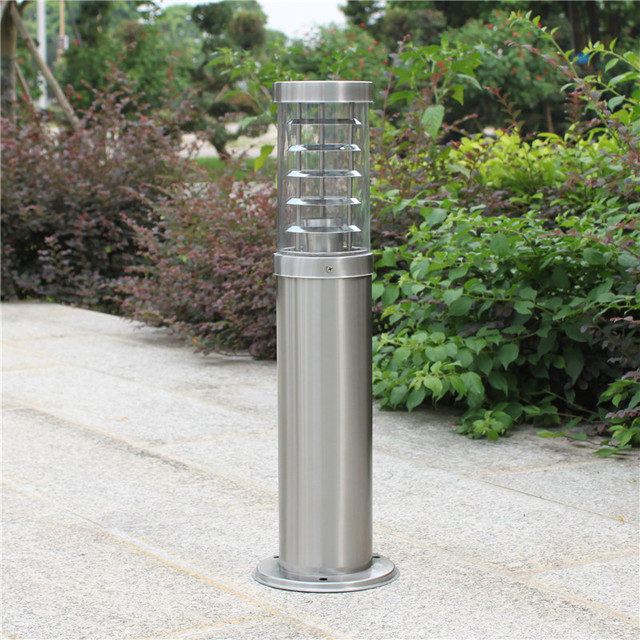 2x e27 acier inoxydable la lumi re pelouse lampe luminaire for Lumieres exterieures pour jardin