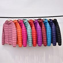 Korean Womens Down Jacket Women Coats Jackets Warm Woman Parka Plus Size 4XL Pink Hooded