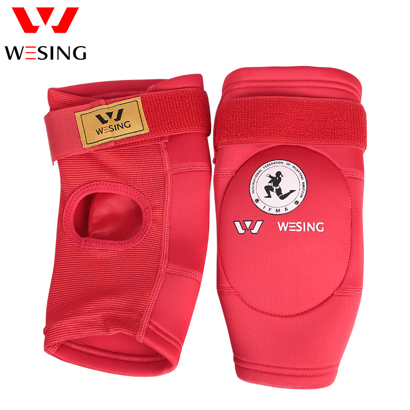 Wesing Muay Thai Elbow Guard IFMA Approved elbow protector Boxing MMA Kicking Boxing Elbow Support Protector Equipment Pair