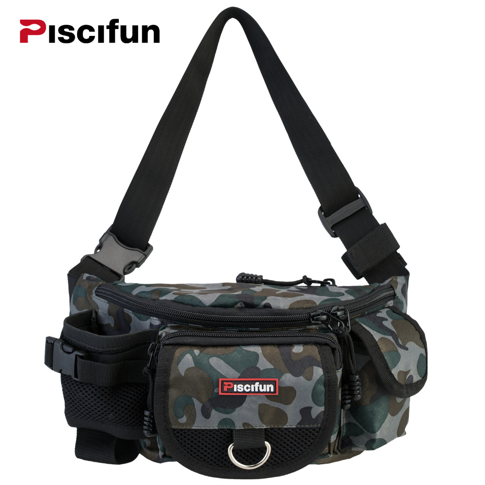 Piscifun Multifunctional Waterproof 3 Layers Fishing Bag Lure Waist Pack Messenger Bag Pole Package Fishing Tackle Bag стоимость