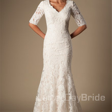 cecelle 2019 Vintage Lace Mermaid Wedding Dresses With