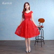 Модные кружевные платья подружки невесты с цветами новое красное