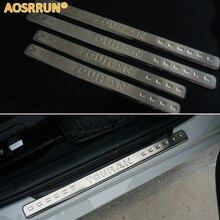 Aosrrun для Фольксваген touran 2004-2013 нержавеющая сталь Накладка порога автомобиль-Стайлинг автомобиля Интимные аксессуары