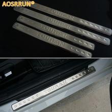 AOSRRUN для VW Volkswagen Touran 2013-2004 нержавеющая сталь Накладка порога автомобиля-Стайлинг автомобиля аксессуары