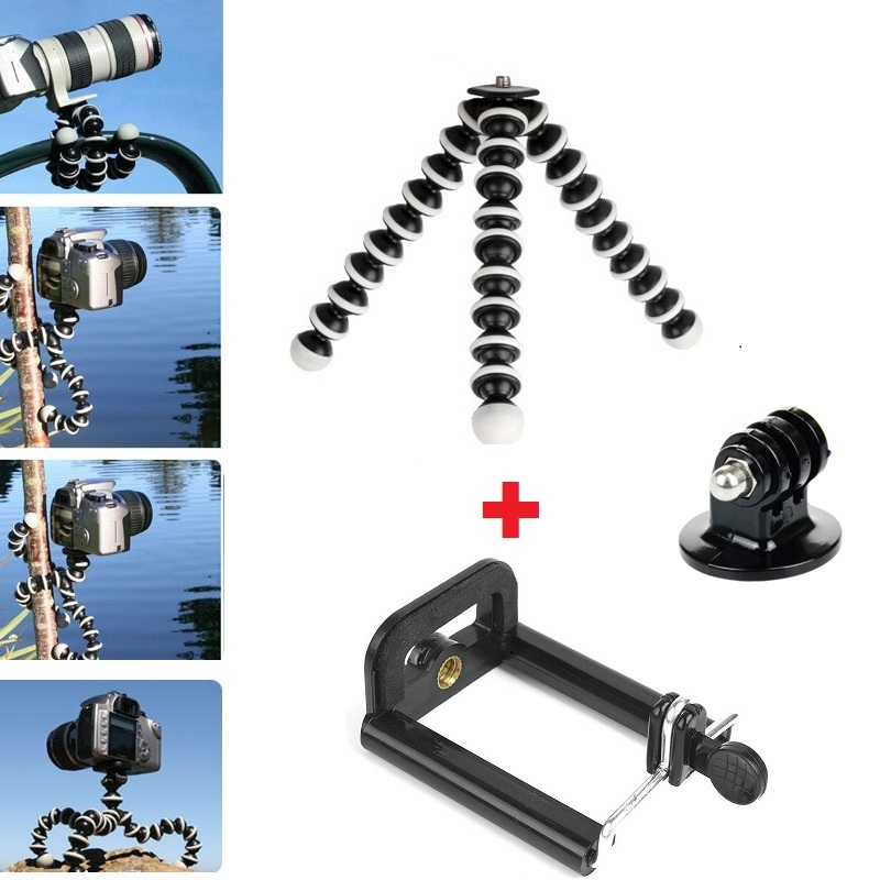 Large Middle Size Octopus Tripod SLR Camera Mobile Phone Tripod for Xiaomi YI Camera Gopro