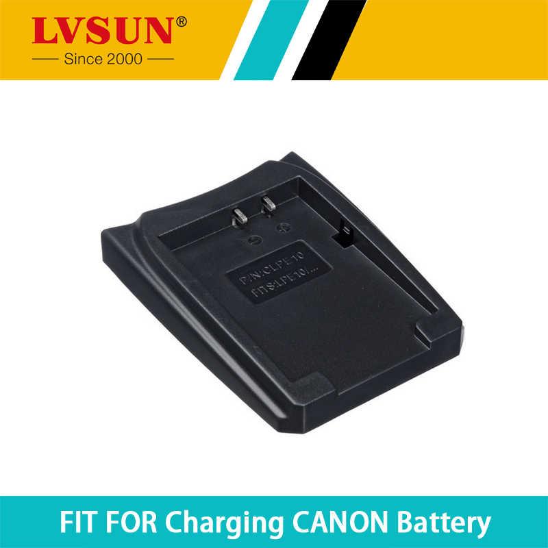 Lvsun placa adaptador caso bateria recarregável para canon lp-e10 lp e10 X70 Beijo X50 Rebel T3 EOS 1100D 1200D T5 Carregador de Baterias