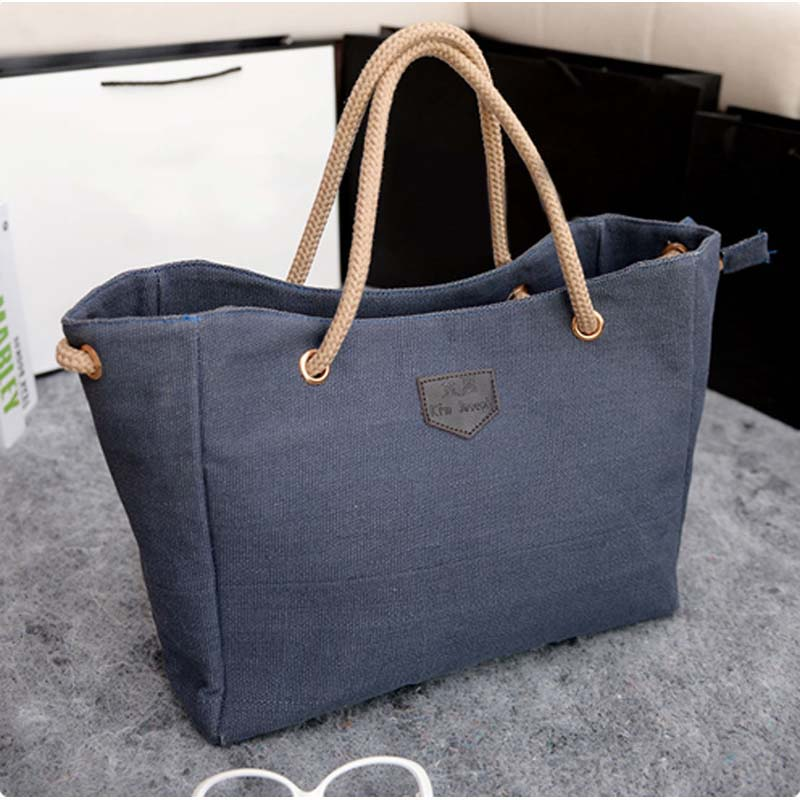 Fashion Women Handbag Solid Color Big Canvas Bag Design Classical Package Ladies Casual Over Shoulder Bags  88 Best Sale