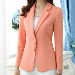 Image 3 - Autumn Spring Womens Blazer Elegant fashion Lady Blazers Coat Suits Female Slim Office Lady Jacket Casual Tops Plus size S 6XL