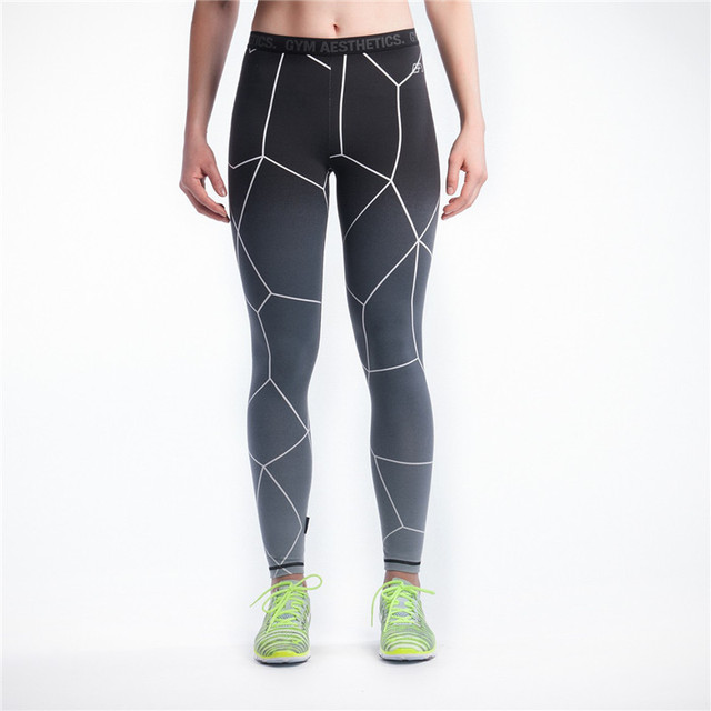 New Brand Women Exercise Yuga Pants Middle Waist Stretch Leggings Ladies Compression Pants Fitness Dry Quick Trousers