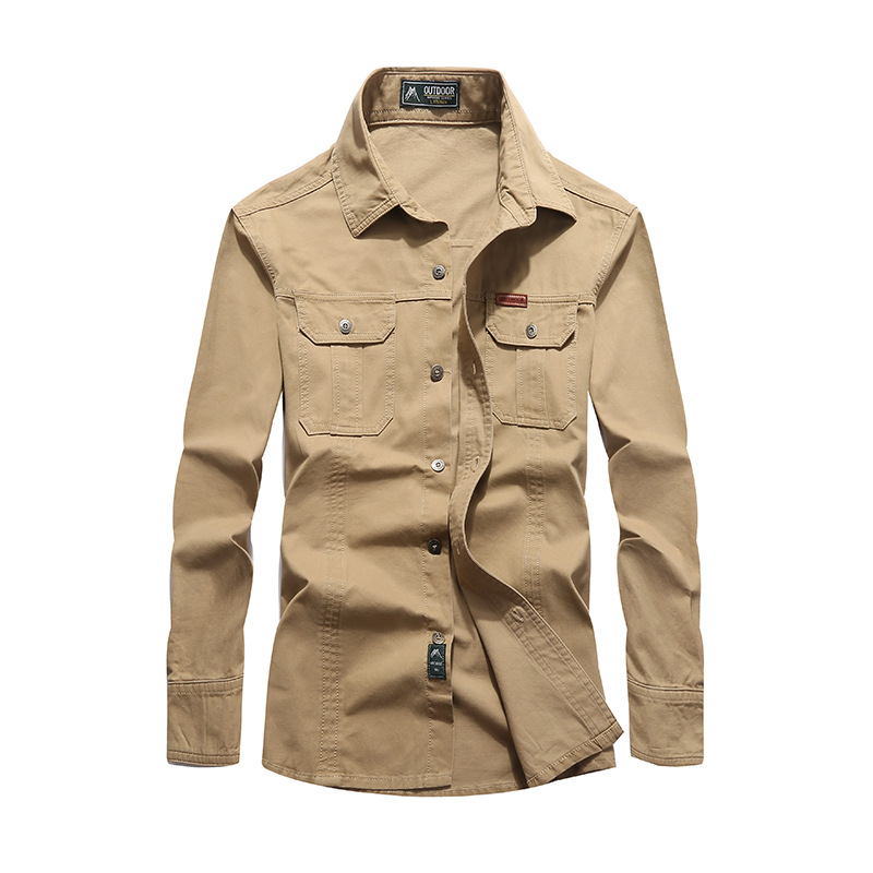 NIANJEEP 2018 Algodón Denim Hombre Camisas Manga Larga Militar Ejército Verde Camisa Casual Marca Ropa Camisa Masculina