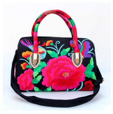 New Fashion embroidery Shopping Multi-use bags!Hot All-match Floral Embroidery Women Shoulder&Handbags Top National Canvas bags