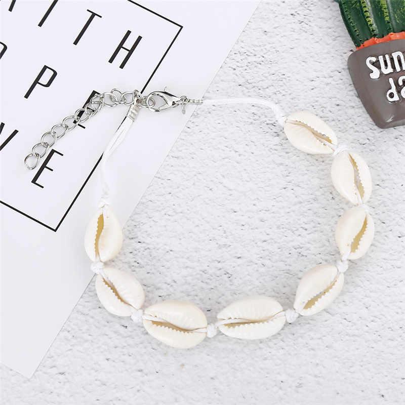 SeaShell ножной браслет для женщин бижутерия для ног Летний Пляжный браслет со ступнями ног Лодыжка на повязка на ноги богемные ювелирные изделия аксессуары