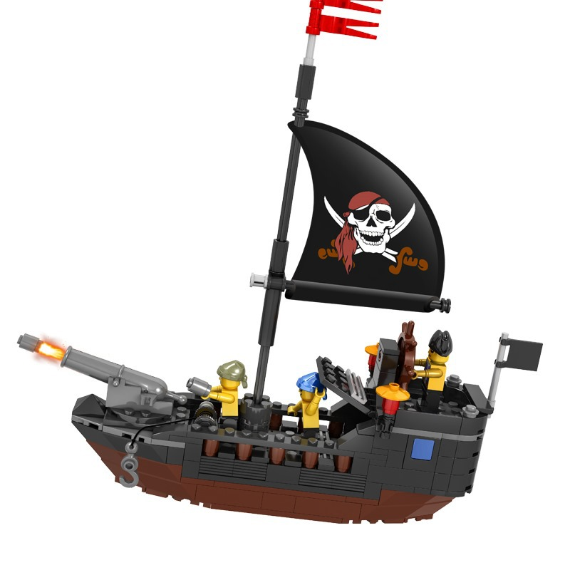 QIAOLETONG City Pirates Series Pirates of the Caribbean Building Blocks Sets Bricks Model Kids Toys Compatible Legoe lepin compatible 16009 1151pcs pirates of the caribbean queen anne s reveage model building kit blocks brick toys for kids 4195
