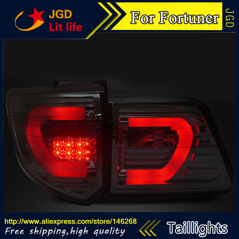 Car Styling tail lights for Toyota Fortuner taillights LED Tail Lamp rear trunk lamp cover drl+signal+brake+reverse car styling tail lights for toyota camry v50 2012 2014 led tail lamp rear trunk lamp cover drl signal brake reverse