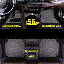 Custom Car foot Mats Luxury Leather Floor For Renault Koleos Scenic Fluence Latitude Megane