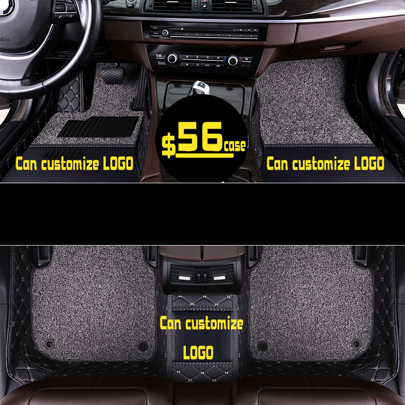 Tapis de sol en cuir de luxe pour voiture sur mesure pour Renault Koleos Scenic Fluence Latitude Megane