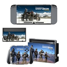 Tom Clancy's Ghost Recon: Wildlands Vinyl Skin Sticker for Nintendo Switch NS Console+Controller+Stand Holder Protective Film